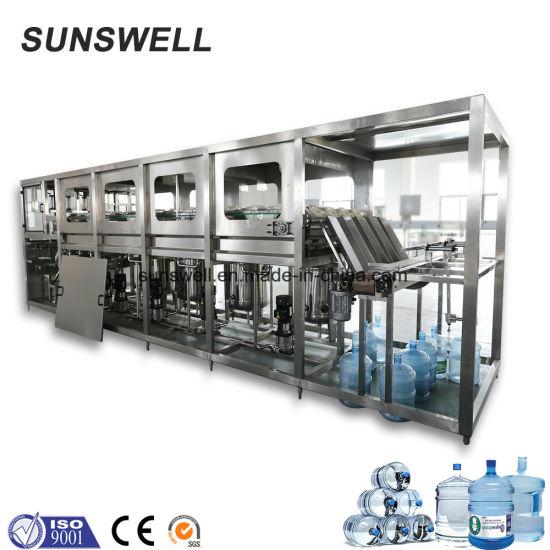 Produttore 300BPH Automatico Bottiglia di Plastica 3 Gallon 5 Gallon 20 Litri di Acqua In Bottiglia Macchina di Riempimento e Tappatura