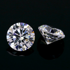 hand polish 5A grade cz gems 9.0 mm loose zircon stone 8HS & 8AS white round shape cut cubic zirconia