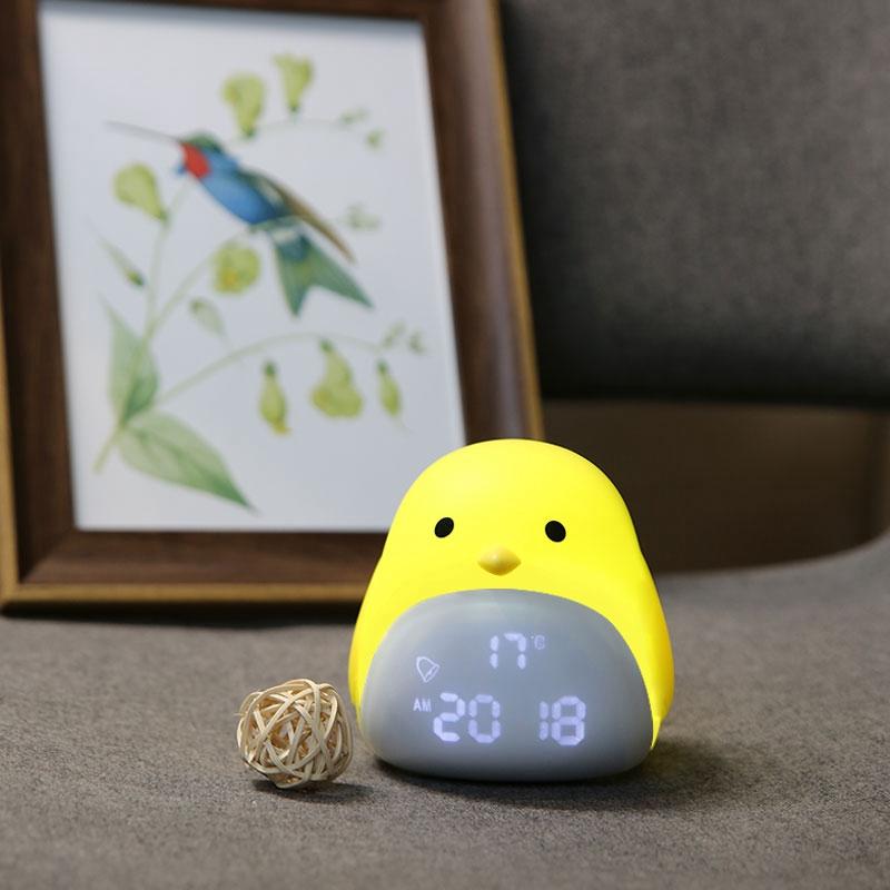 Amazon Warna Berubah Bayi Tidur Pelatih Kartun Listrik Lampu LED Jam Alarm