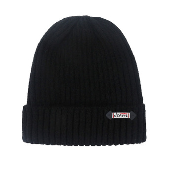 Wholesale Custom New Design OEM cashmere unisex winter ribbed knitted beanies hat cap
