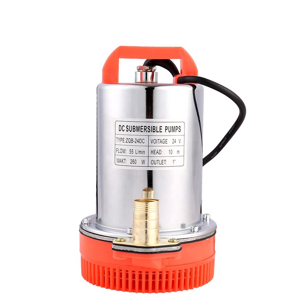 """Derin kuyu dalgıç pompa 260W 24V DC güneş enerjili 1 """"Mini araba yıkama fırçasız santrifüj su pompası maks. Q 55L/dak maks. H 10 m"""