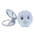 Plant design fashion style portable small pocket mirror makeup folding stainless steel cosmetic mirror custom compact mirrors