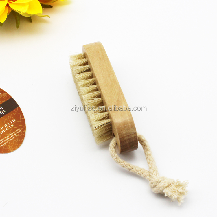 High quality soft bristle natural wood hand brush mini foot brush