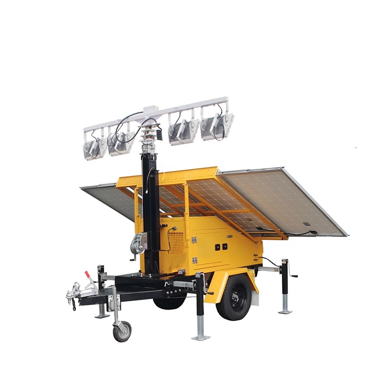 Light Tower Power Panel Towers Lighting System Bank Led Mobile Solar Trailer