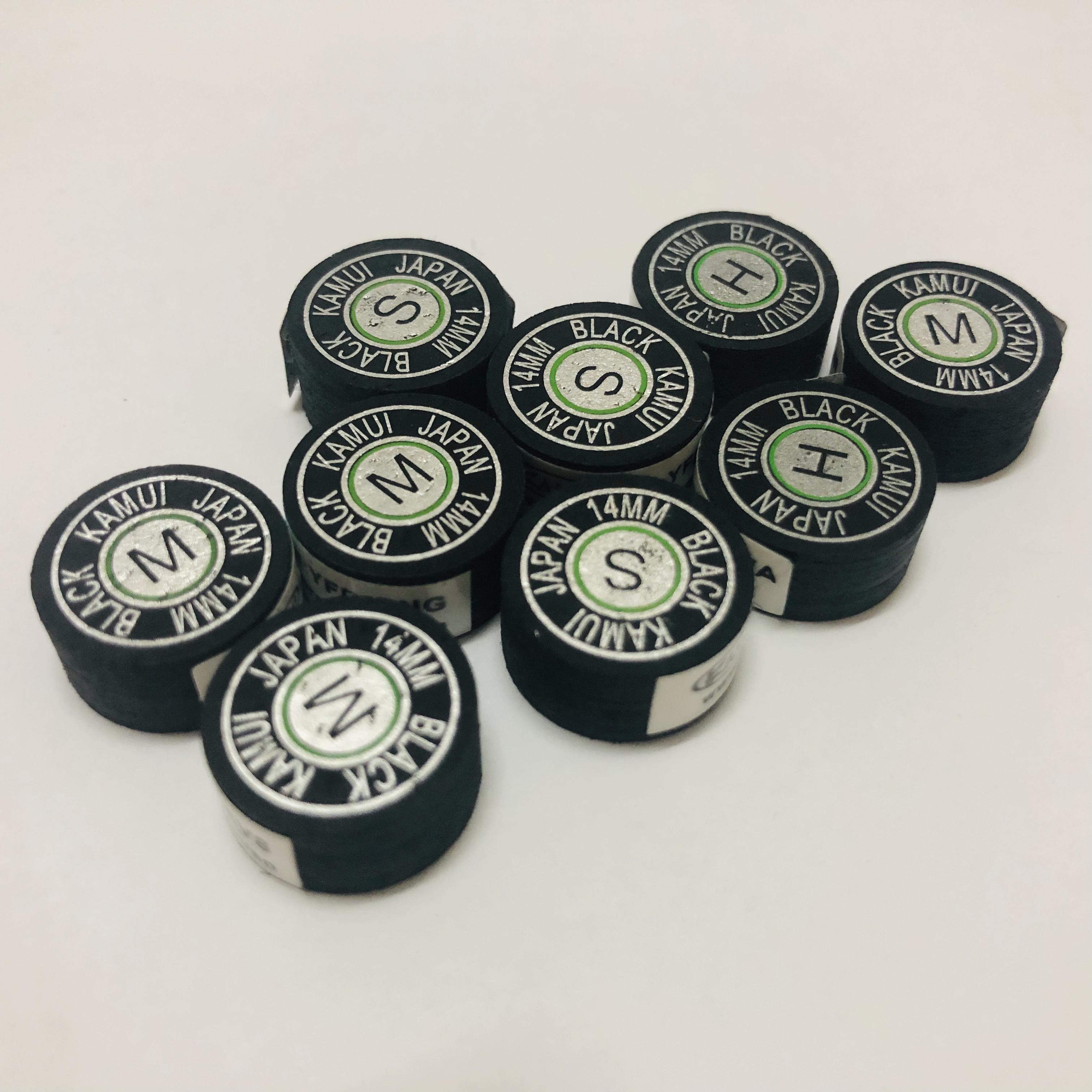 14mm black clear original kamui billiard pool cue tips