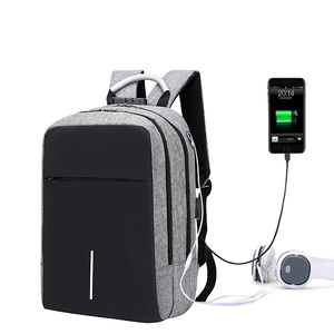 Custom logo waterproof bulk business bag smart anti-theft laptop backpack with usb charger and lock