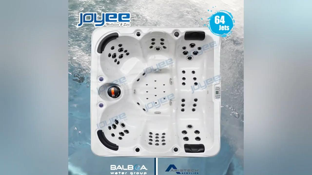 Joyee 6 Người Tắm Massage Xoáy Nước Lớn Ngoài Trời Thác Spa Bồn Tắm Nước Nóng Hồ Bơi Hydro Massage Hồ Bơi Spa Ngoài Trời Với Bể Sục