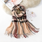 Hot sale multicolor sale knitted black scarf women knit scarf