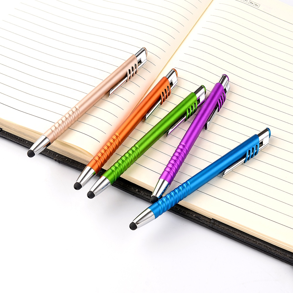Over 10 Years Experience Manufacturers 2 in 1 China Plastic Ballpoint Pen Rubber Tip Stylus pen