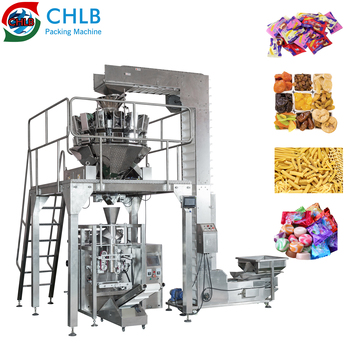 CHLB 420PM automatic pillow bag granule soft candy rice seeds packing machine pasta potato chips packaging machines