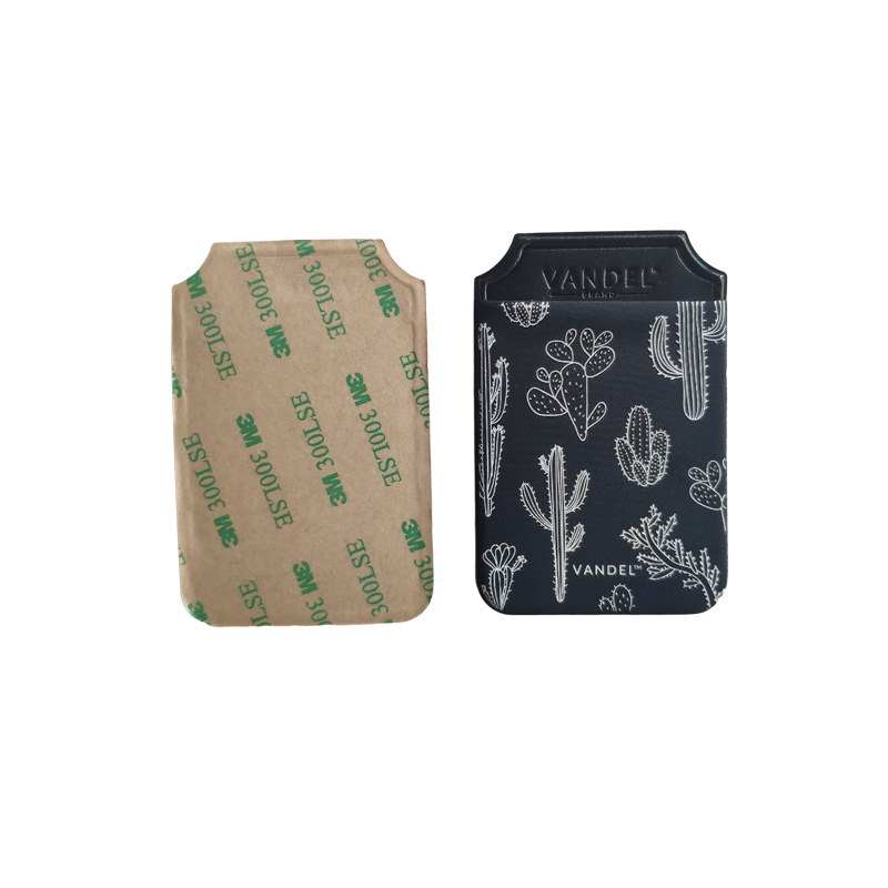 OEM Card Holder Credit Wallet Custom Logo Stretch Fabric Cell Phone Card Holder Mobile Phone Card Wallet