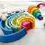 Montessori wooden rainbow stacking blocks educational toys for kids