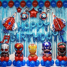 <span class=keywords><strong>Avengers</strong></span> Thema Party Dekoration Superhero Geburtstag Anzug Captain America Jungen Geburtstag Dekoration <span class=keywords><strong>Ballon</strong></span> Set