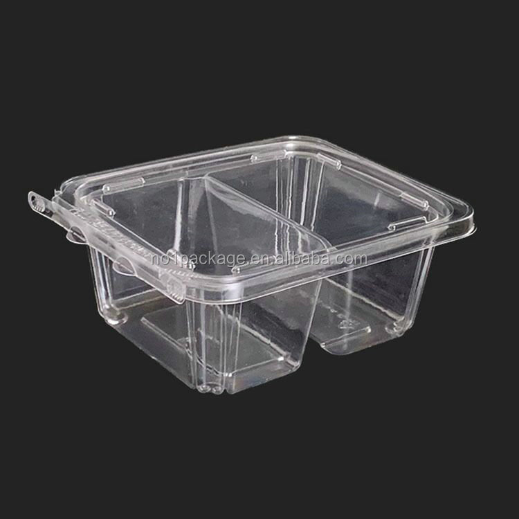 0.02 Dollar AL-SB025 Series Factory Disposable PET Food Snack Cake Fruit Transparent plastic buy packaging small boxes