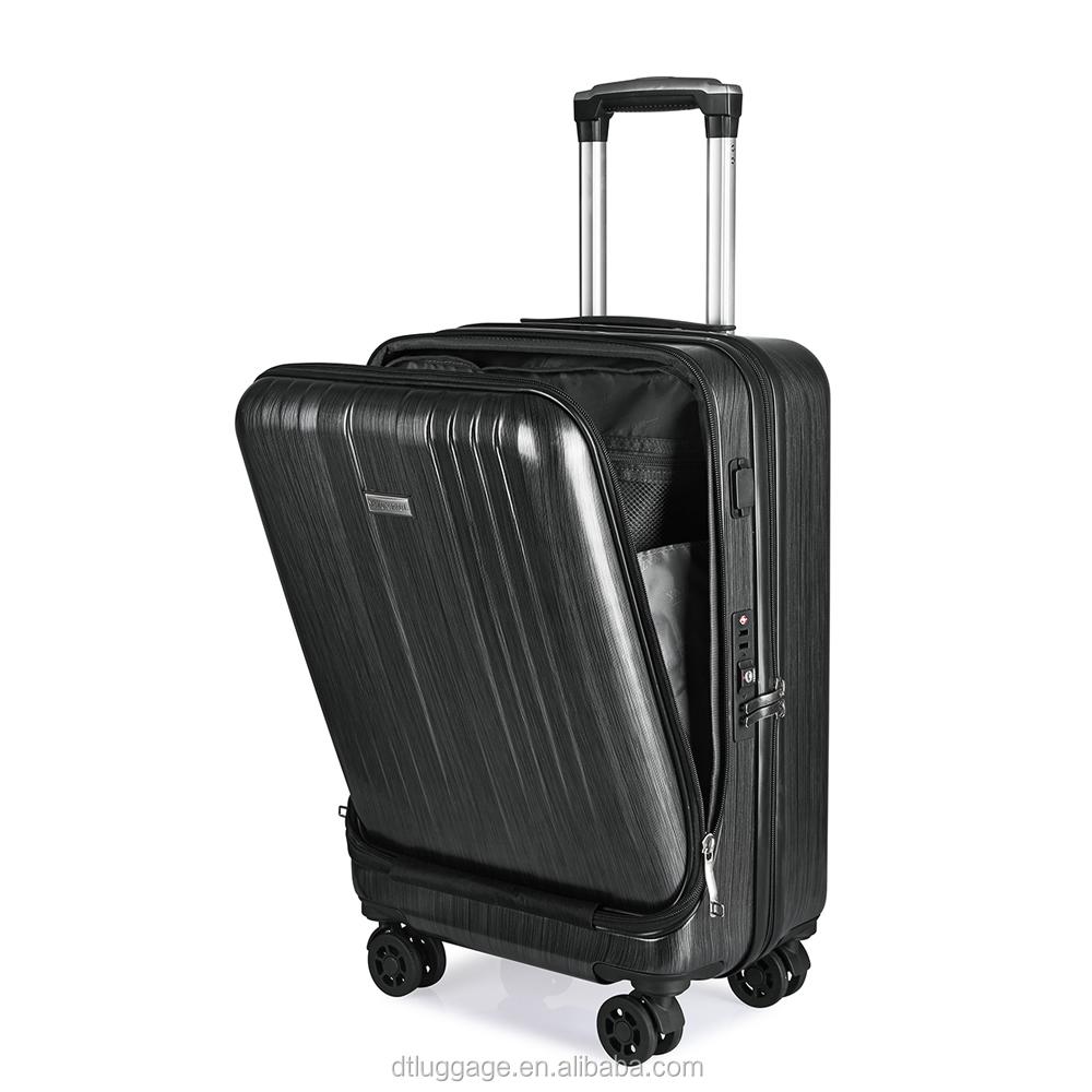 2019 заказной дизайн чемодан USB зарядка порт дорожная Сумка PC умный багаж с передним карманом