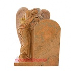Stone Tombstone Natural Stone Top Quality White Gravestone Small Child Headstone Baby Angel Tomb Marble Tombstone