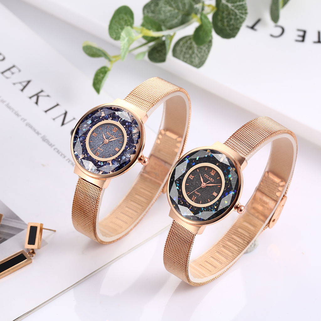 Newv Strap Buckle Ladies Clock Mesh Strap Frosted Diamond Dial Women Watches Female Wrist Watch reloj