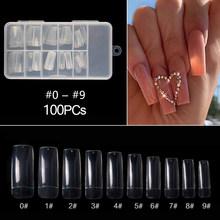 500/100 шт накладные ногти на гроб, балерины, накладные ногти, плоская форма, ногти для дизайна ногтей, натуральные, прозрачные, полное покрытие,...(Китай)