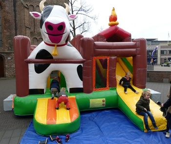 Dairy cow Jumping castle and slide for children 2019 best commercial Inflatable bouncer cow design with discount NOW