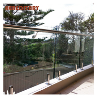 Stainless steel railing balcony glass railing pool fence spigot with 10mm tempered glass
