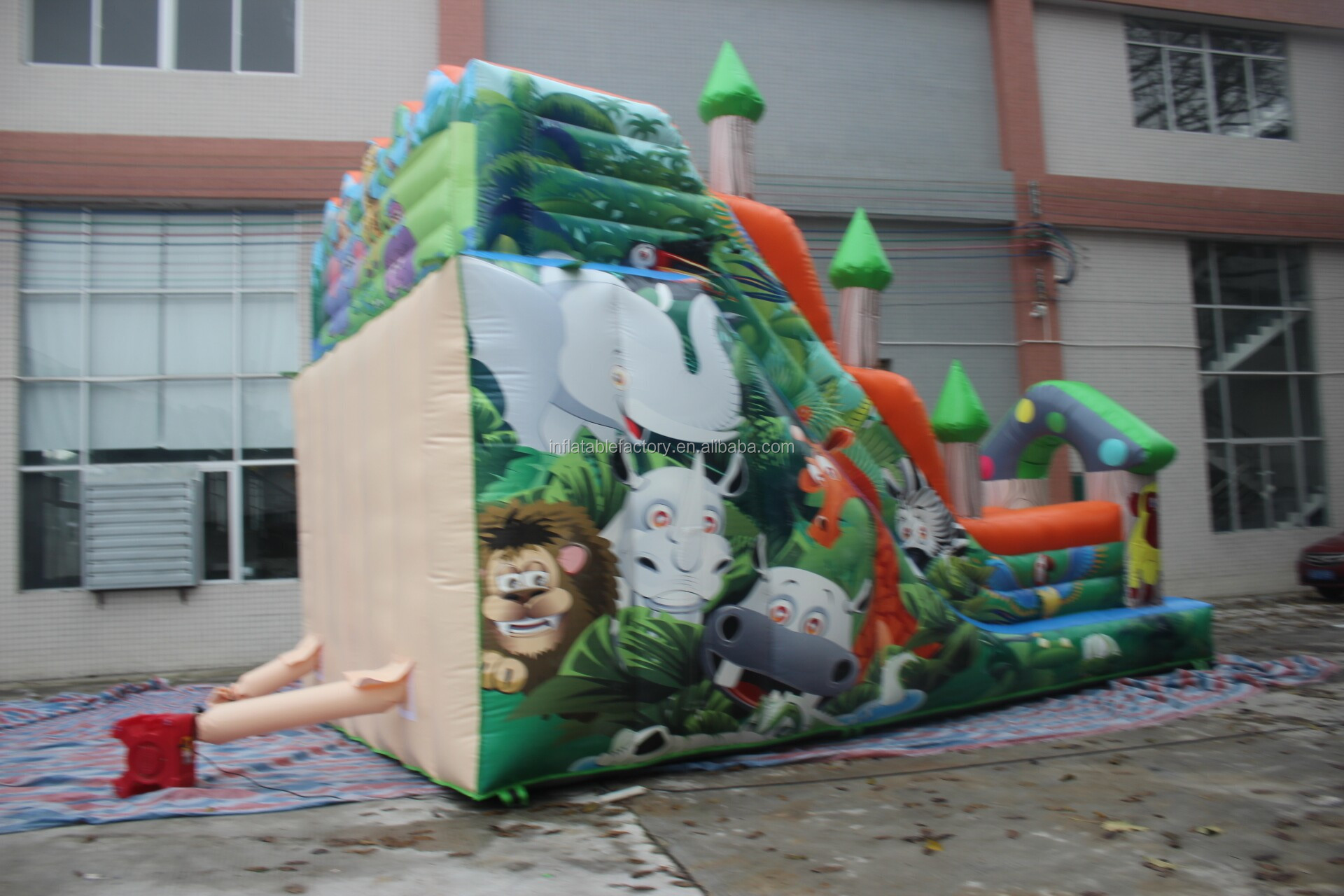 Children's toys inflatable slide for outdoor activities