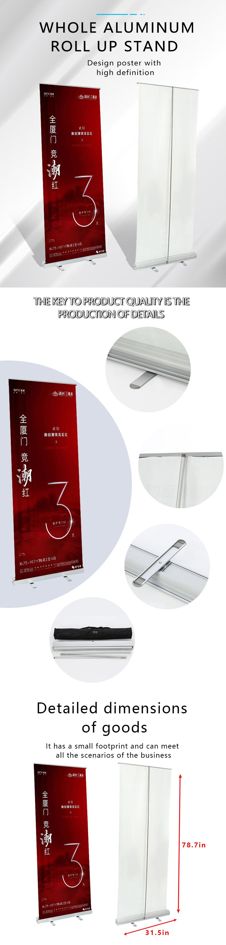 De luxe en aluminium rétractable larme bannière pour l'affichage de publicité