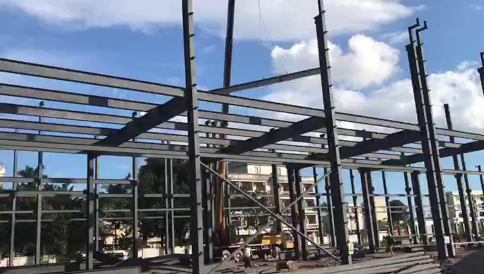 新プレハブ鉄骨建築/シンプルプレハブ軽量鉄骨ハウス鉄骨構造