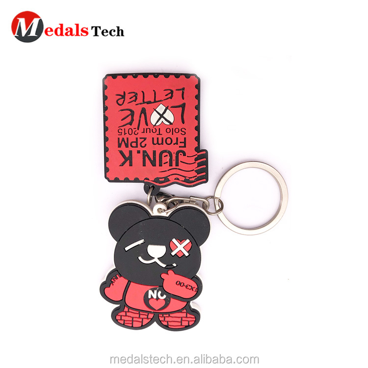 Personalized custom  spray metal 3d house shaped keychain