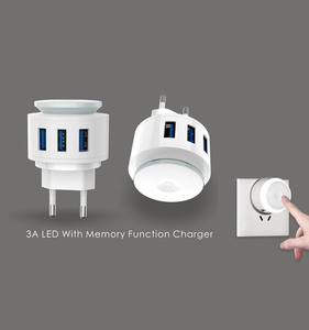 2020 New Mold 3USB 5V Universal Charger Adapter 2.4A Fast Charging with  LED