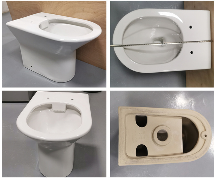 Chinese bathroom ceramic rimless back to wall floor mounted toilets