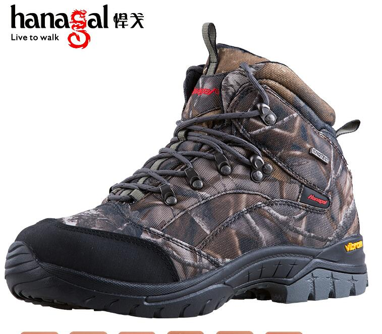 Stock waterproof Camo hunting boots with KingTex membrane and rubber sole best walking sole