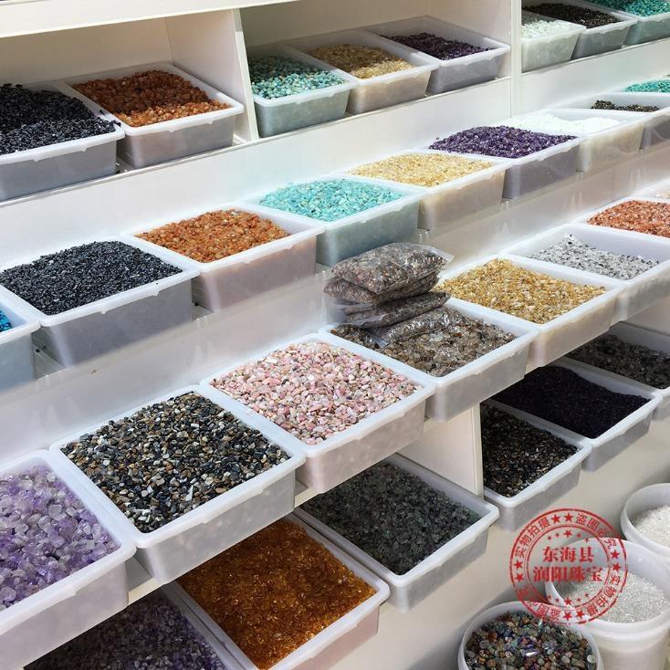 wholesale bulk tumble stone polished quartz rolling stones crystal gravel chips