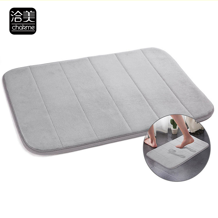 Washable Design Absorbent Waterproof Door Bay Window Kitchen Bathroom Bath Yiwu Memory Foam Bathmat Doormat Carpet Rug Mat