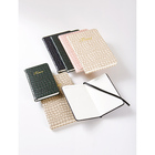 Leather Wholesale Stone Grain Elegant Hard Cover Notebook With Customised Logo