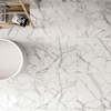Polished glazed floor tile ceramic piso carrara white marble look villa wall porcelanato 24x24 ceramic tile
