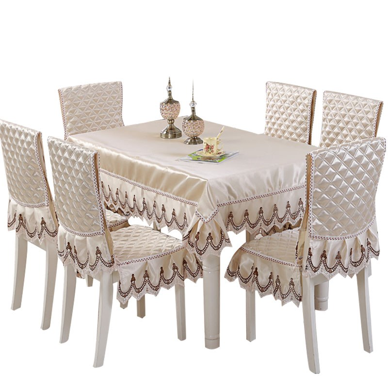 نمط رائجة البيع المصنوعة في الصين غطاء الطاولة غطاء كرسي مأدبة 13 قطعة