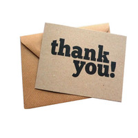 Customized luxury business thank you cards with envelope