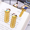 High quality custom soft enamel metal cute cat clip bookmark for souvenir