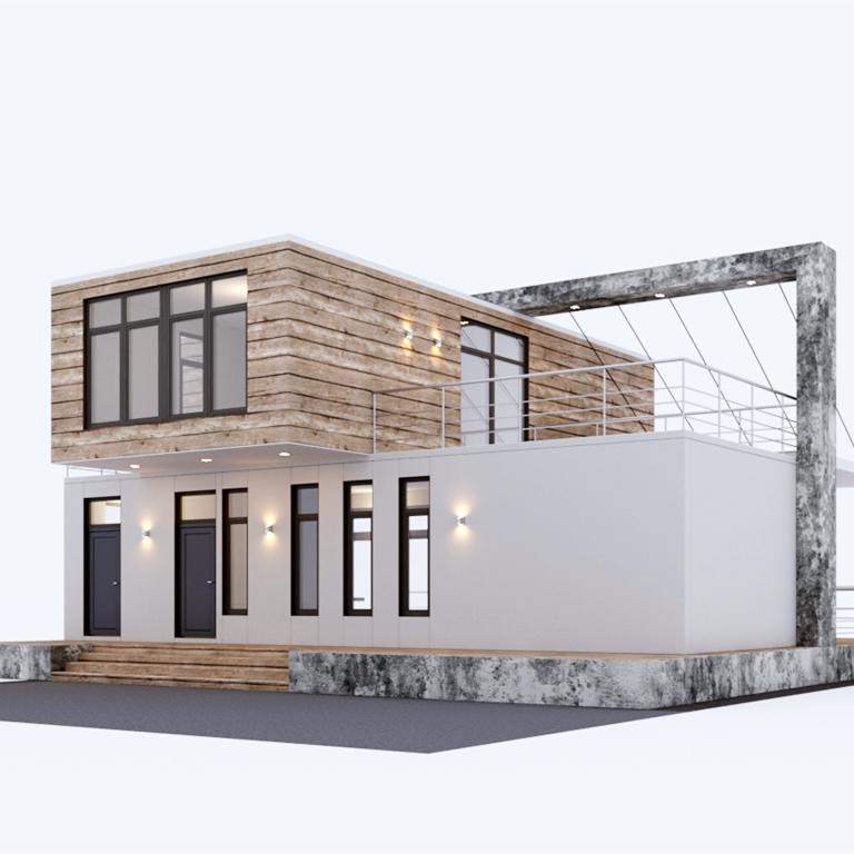 Chino casa prefabricada de envío de contenedor de Casa contenedor de 40 pies mangueras de lujo