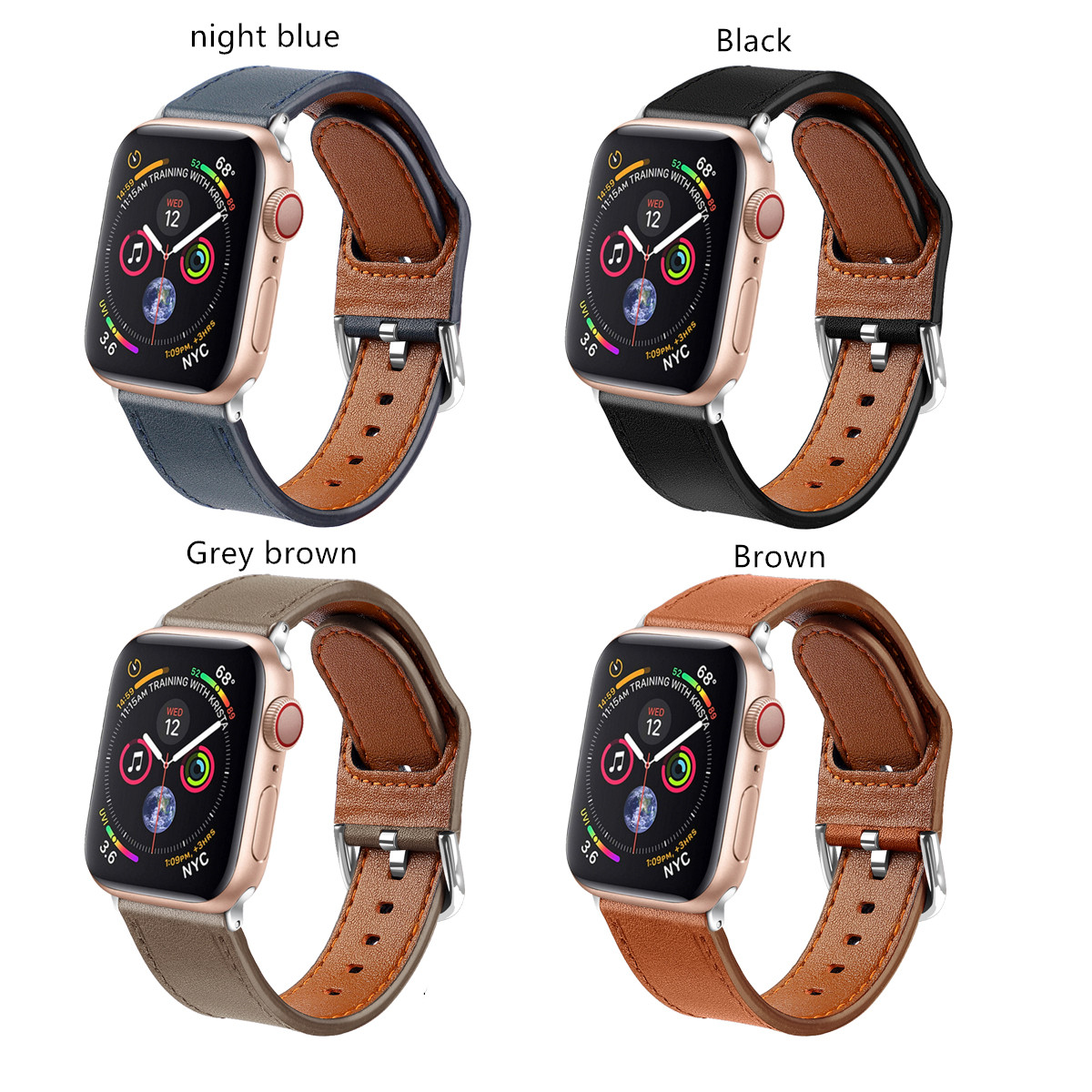 BLAP181124 Hot selling for apple watch 38mm, 40mm, 42mm, 44mm leather watch band