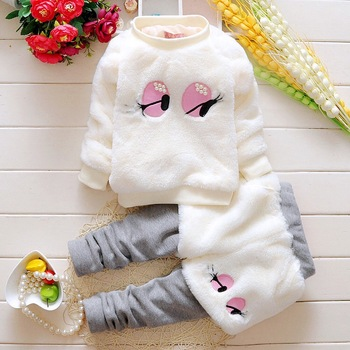 2019 autumn and winter velvet clothes and pants for baby girls girls beautiful set