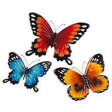 Factory  Wall Art Indoor or Outdoor Set of 3 Metal Wall Decor Butterfly
