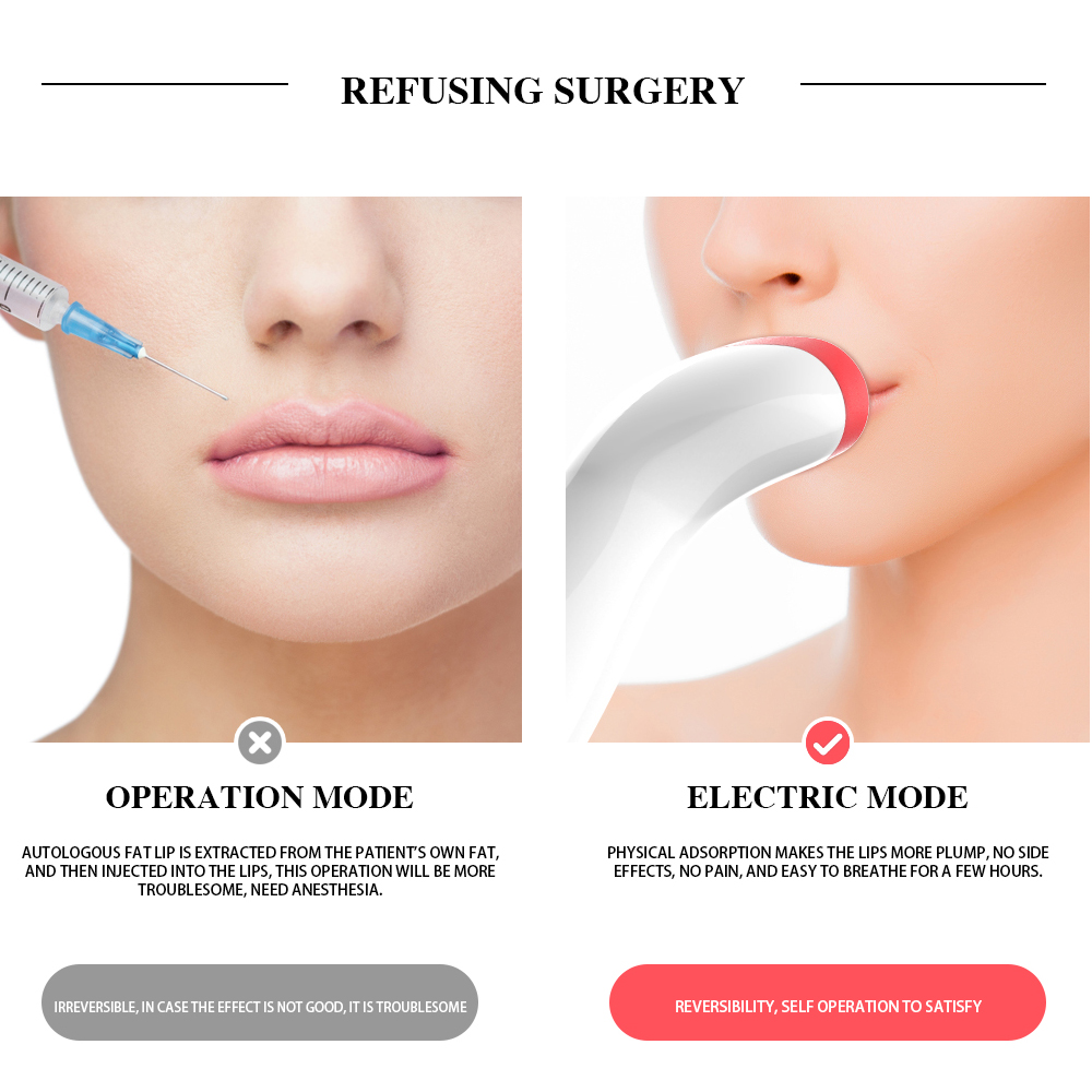 Automatic Lip Plumper Electric Lip Enhancer Intelligent Deflated Designed Lip Plumpering Device Private Label