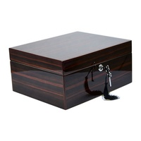 desktop ebony veneer luxury style high end table wooden cigar humidor