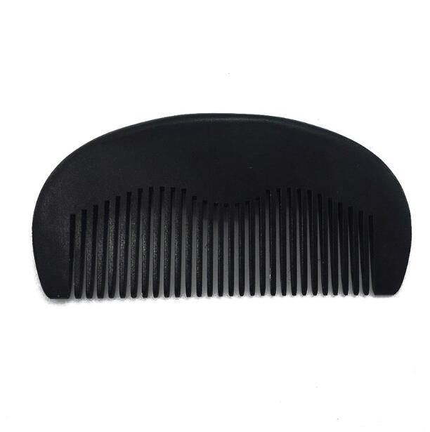 Großhandel individuelles logo schwarz holz barber bart haar heißer kämme
