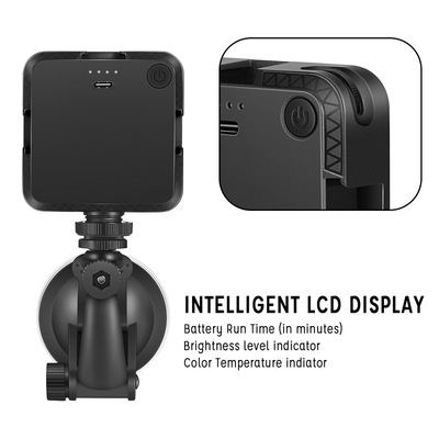 Photo light kit LED Video Conference Lighting Kit fill light led photo Video light With suction cups