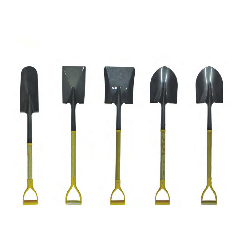 Garden Shovels with Carbon Steel Head and Wood Handle