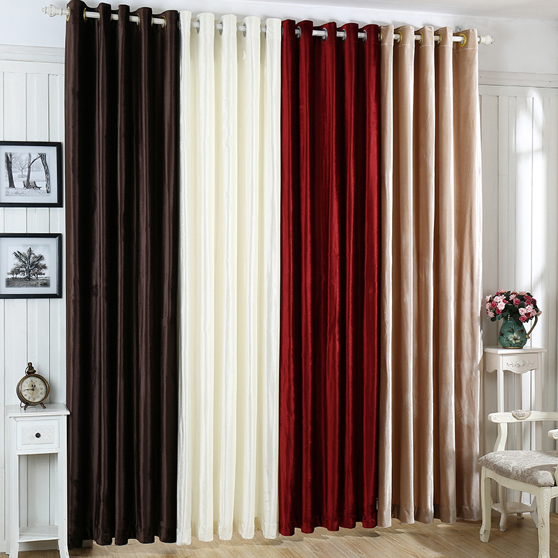 Luxury High Quality Italian Wool Fabric Plain Velvet Blackout <strong>Curtain</strong>