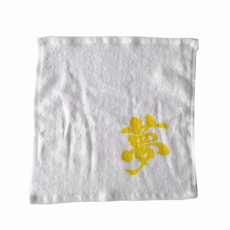 Custom Logo Bamboo Printed Small Kids Square Face Towel in Bulk