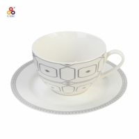 The low price and best quality ceramic porcelain tea cup sets with flowers for home daily